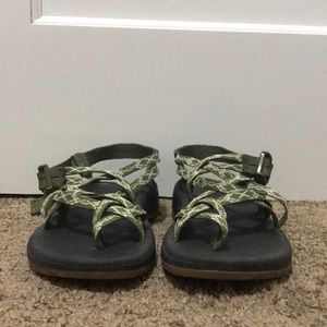 Forest green Chacos